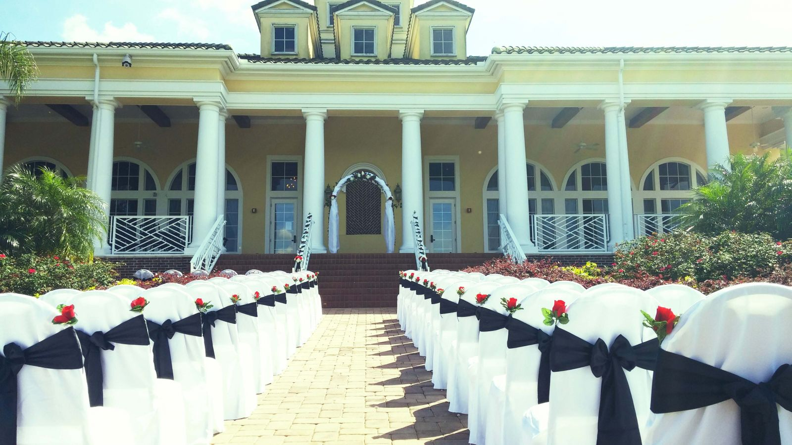 Wedding ceremony at providence golf club located near orlando